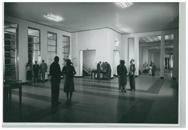The Fine Arts Center lobby in the 1930s.
