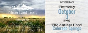 Tenth Annual Southern Colorado Conservation Awards presented by Palmer Land Trust at Antlers Hotel, Colorado Springs CO