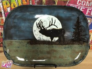 Elk Moon with Pine Tree Painting Class