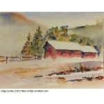 Watercolor Cards with Snow Scenes