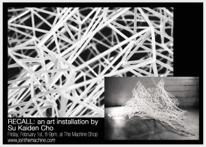 Recall: an Art Installation presented by Machine Shop at The Machine Shop, Colorado Springs CO