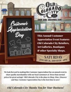 Customer Appreciation Day presented by Hunter-Wolff Gallery at Old Colorado City, Colorado Springs CO
