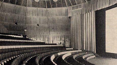 The inside of the building when it first opened as a movie theater.