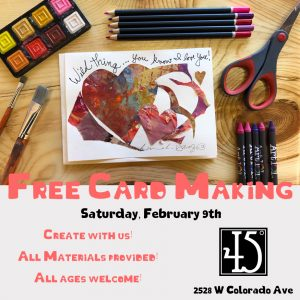 Valentine Card Making Party presented by 45 Degree Gallery at 45 Degree Gallery, Colorado Springs CO