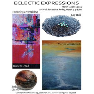 Eclectic Expressions presented by Commonwheel Artists Co-op at Commonwheel Artists Co-op, Manitou Springs CO