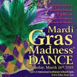 Mardi Gras Dance presented by Pikes Peak USA Dance Chapter #5020 at Immanuel Lutheran Church, Colorado Springs CO