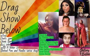 Drag Show Below presented by Peak Radar Live: Fakes and Forgeries Art Show & Sale at The Gallery Below, Colorado Springs CO