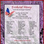 Frokost: An Authentic Norwegian Breakfast presented by Fjellheim Lodge, Sons of Norway, Colorado Springs at Viking Hall, Colorado Springs, Colorado Springs CO