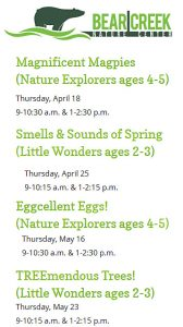 Children's Nature Series at Bear Creek presented by Bear Creek Nature Center at Bear Creek Nature Center, Colorado Springs CO