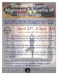 Benefit & Use of Alignment and Props Workshop - Yoga