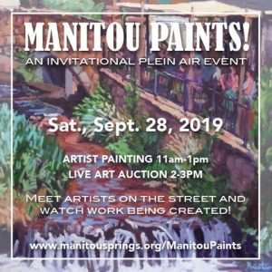 CALL FOR ARTISTS: Manitou Paints! presented by Tracy Miller Fine Art at Downtown Manitou Springs, Manitou Springs CO