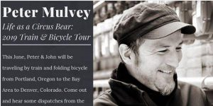 Peter Mulvey Bicycle/Train Tour presented by Friends House Concerts at ,