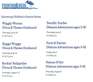 Children's Nature Series at Fountain Creek