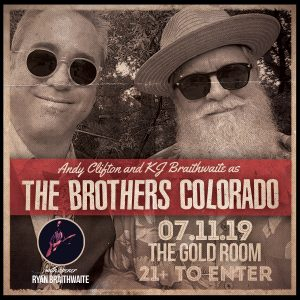 Andy Clifton and KJ Braithwaite as the Brothers Colorado