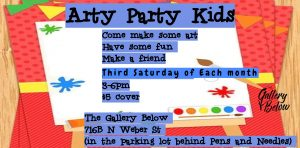 Arty Party Kidz presented by Arty Party Kidz at The Gallery Below, Colorado Springs CO