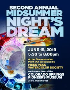 Pikes Peak Watercolor Society's Midsummer Night'...