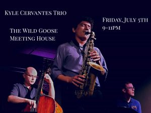 Kyle Cervantes Trio presented by The Wild Goose Meeting House at The Wild Goose Meeting House, Colorado Springs CO