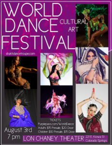 World Dance Festival presented by Shakti Dance Troupe at Lon Chaney Theatre, Colorado Springs CO