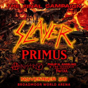 Slayer presented by Broadmoor World Arena at The Broadmoor World Arena, Colorado Springs CO