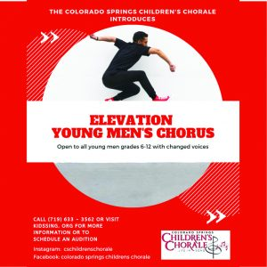 Auditions: Elevation Young Men's Chorus presented by Colorado Springs Children's Chorale at ,