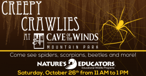 Creepy Crawlies at Cave of the Winds presented by Cave of the Winds at Cave of the Winds, Manitou Springs CO