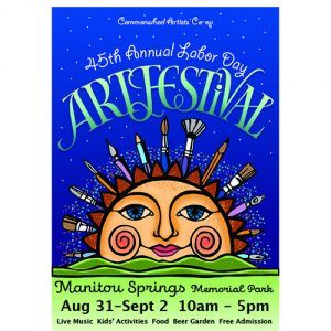 Commonwheel Labor Day Art Festival presented by Commonwheel Artists Co-op at Memorial Park, Manitou Springs, Manitou Springs CO