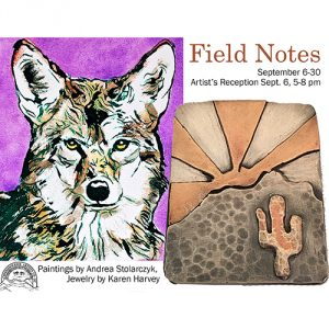 'Field Notes' presented by Commonwheel Artists Co-op at Commonwheel Artists Co-op, Manitou Springs CO
