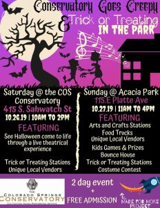 Trick or Treating in the Park presented by Trick or Treating in the Park at Acacia Park, Colorado Springs CO