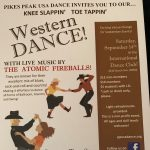'Knee Slappin' Toe Tappin' Western Dance' presented by Pikes Peak USA Dance Chapter #5020 at International Dance Club, Colorado Springs CO