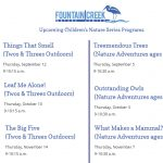 """Children's """"Two's & Threes Outdoors"""" Series at Fountain Creek"""