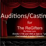 Call for Auditions: The Regifters presented by Fountain Community Theater at Fountain Community Theater, Fountain CO