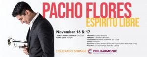The Philharmonic with Pacho Flores presented by Pikes Peak Center for the Performing Arts at Pikes Peak Center for the Performing Arts, Colorado Springs CO