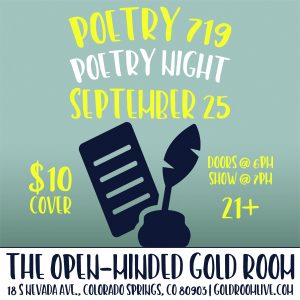 Poetry 719 Festival: Opening Showcase presented by Gold Room at The Gold Room, Colorado Springs CO