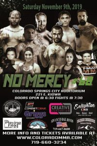 No Mercy 68 presented by Colorado Springs Sports Corporation at Colorado Springs City Auditorium, Colorado Springs CO