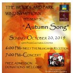 Autumn Song Concert presented by Woodland Park Wind Symphony at Ute Pass Cultural Center, Woodland Park CO