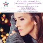 De-stressing the Holidays: An Interactive Meet Up with Tools to Empower You presented by Manitou Art Center at Manitou Art Center, Manitou Springs CO