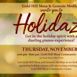 Holidaze presented by Gold Hill Mesa Community Center at Gold Hill Mesa Community Center, Colorado Springs CO