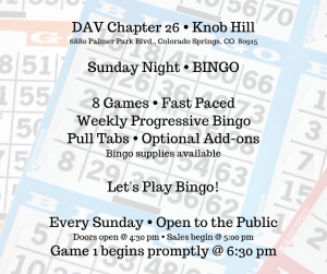 Sunday Bingo presented by Sunday Bingo at ,