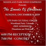 The Sounds of Christmas Concert presented by Woodland Park Wind Symphony at Ute Pass Cultural Center, Woodland Park CO
