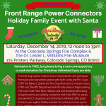 FRPC 2nd Annual Holiday Family Event with Santa presented by Front Range Power Connectors at Dr. Lester L. Williams Fire Museum, Colorado Springs CO