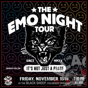 The Emo Night Tour presented by The Black Sheep at The Black Sheep, Colorado Springs CO