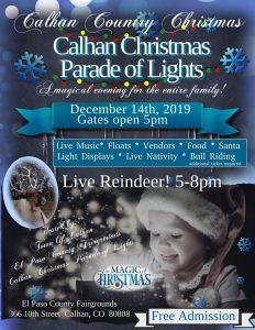 Calhan Country Christmas presented by El Paso County Fairgrounds at El Paso County Fairgrounds, Calhan CO