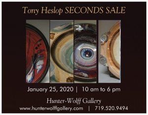 Tony Heslop's Pottery presented by Hunter-Wolff Gallery at Hunter-Wolff Gallery, Colorado Springs CO