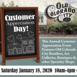 Customer Appreciation Day presented by Hunter-Wolff Gallery at Old Colorado City, Colorado Springs CO