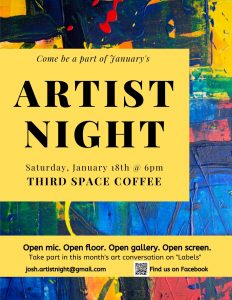 Artist Night presented by Linda Weise & The Conservatory All Stars at Third Space Coffee, Colorado Springs CO