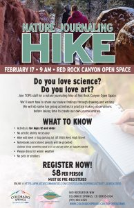 Nature Journaling Hike presented by City of Colorado Springs Parks, Recreation & Cultural Services at ,