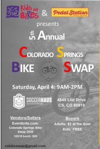 Colorado Springs Bike Swap presented by Kids on Bikes at ,