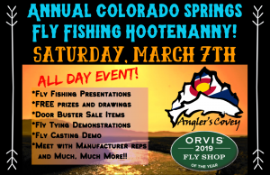 Annual Colorado Springs Fly Fishing Hootenanny presented by Anglers Covey Fly Shop at Anglers Covey Fly Shop, Colorado Springs CO