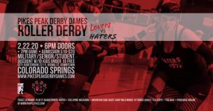 Roller Derby Event: Season Opener Mix-Up Bout presented by Pikes Peak Derby Dames at Colorado Springs City Auditorium, Colorado Springs CO