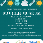 March Mobile Museum: Wacky Weather presented by Pikes Peak Children's Museum at PPLD -Library 21c, Colorado Springs CO